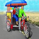 Public Tricycle Rickshaw Driving