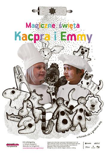 Polski plakat filmu 'Magiczne Święta Kacpra i Emmy'
