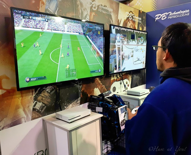 consoles which guests can use to play games