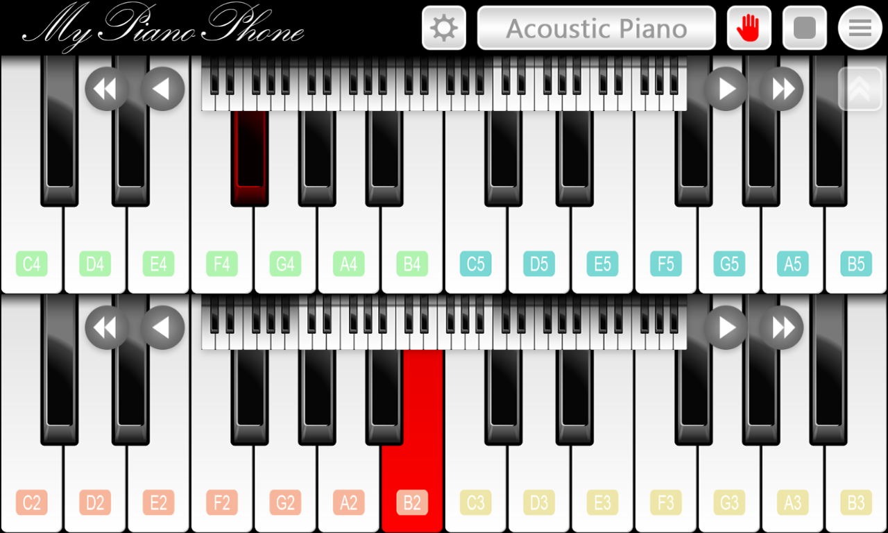 My piano phone android apps on google play my piano phone screenshot hexwebz Gallery
