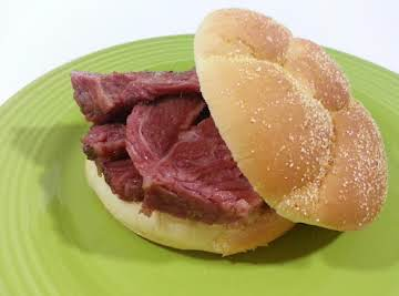 Sweet and Spicy Corned Beef Sandwiches