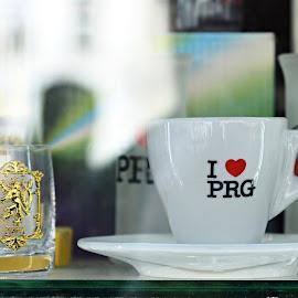 I Like Prague. by Marcel Cintalan - Artistic Objects Other Objects ( artistic objects, glass, czech republic, coffee, prague, cup, souvenir )