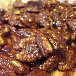 Cinnamon Glazed Pecans.