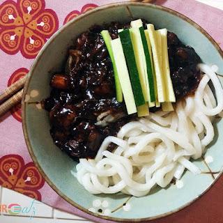 Zha Jiang Mian   Chinese Pork Sauce Noodles.
