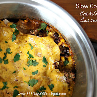 Recipe for Slow Cooker Enchilada Casserole
