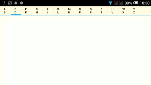 Alphabetical Notepad
