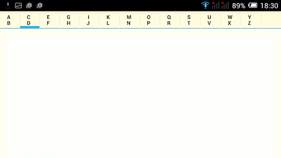 Alphabetical Notepad- screenshot thumbnail