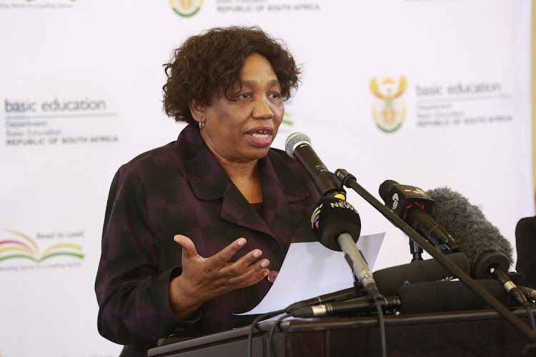 Education minister Angie Motshekga speaking about the department's readiness for the reopening of schools under level 3 on June 1 2020. Picture: GCIS.