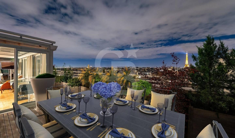 Apartment with terrace Paris 16th