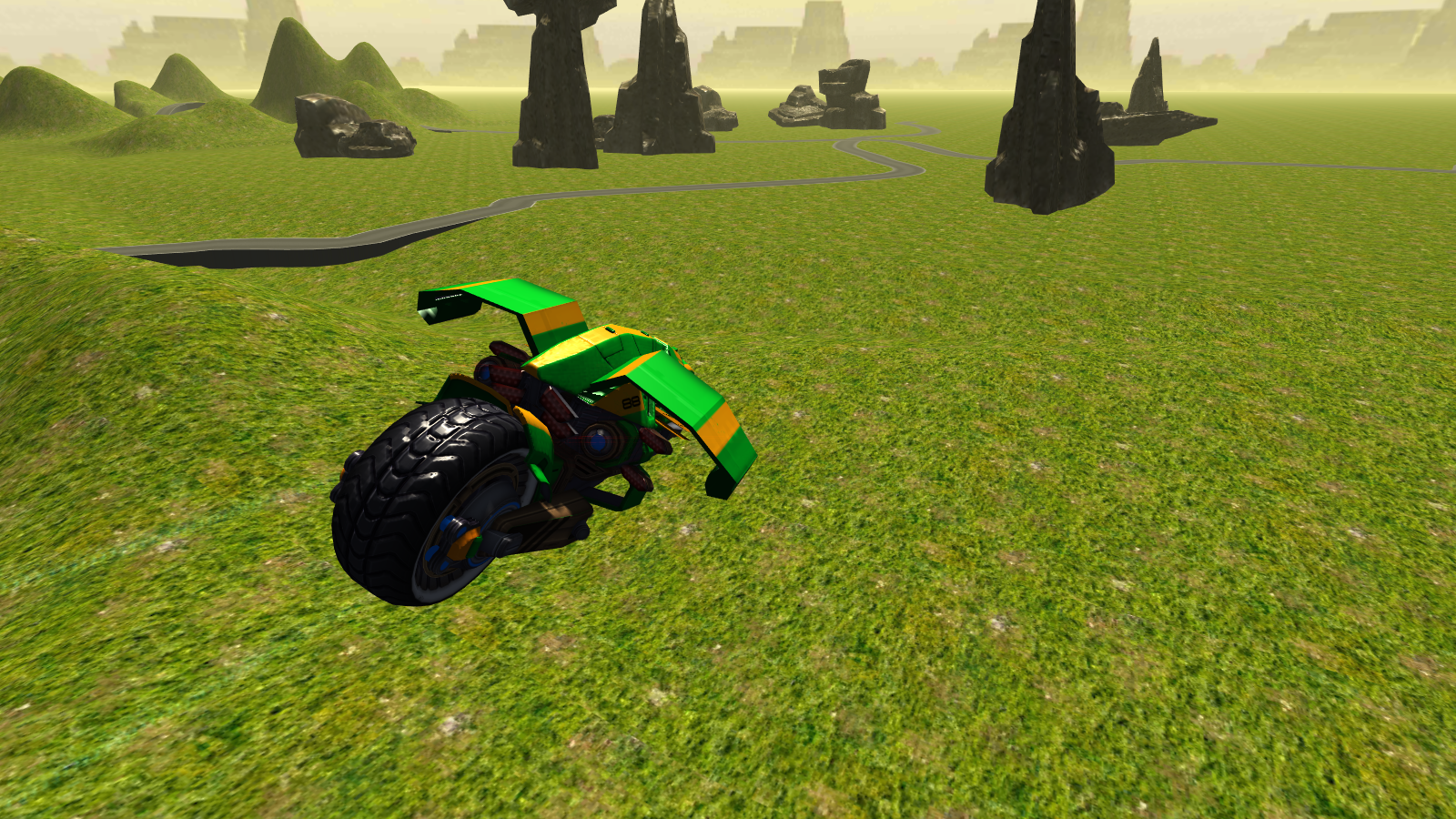 Flying Motorbike Stunt Rider- screenshot