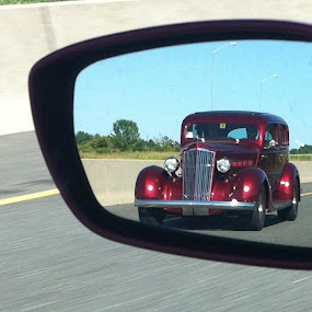 The Pas by David W Hubbs - Transportation Automobiles ( rearview mirror, classic car, old car, vintage car, hot rod )
