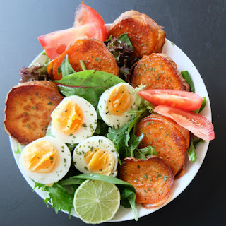 Fried Sweet Potato Egg Salad.