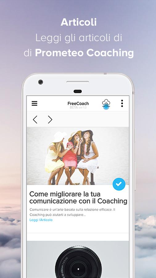 FreeCoach - L'App sul Coaching- screenshot