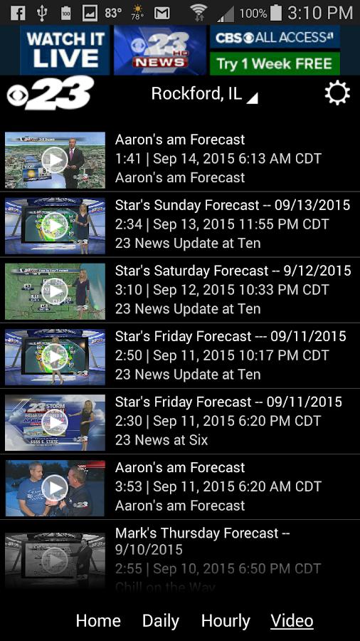 WIFR Weather- screenshot