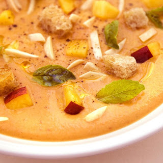 Daniel Humm's Peach Gazpacho with Toasted Almonds