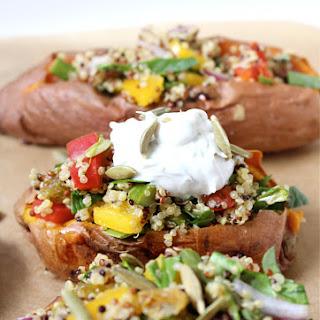 {Weeknight Cooking} Quinoa Stuffed Sweet Potatoes