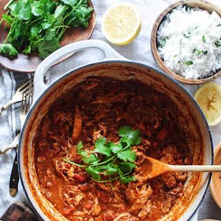 Easy Shredded Chicken Curry.