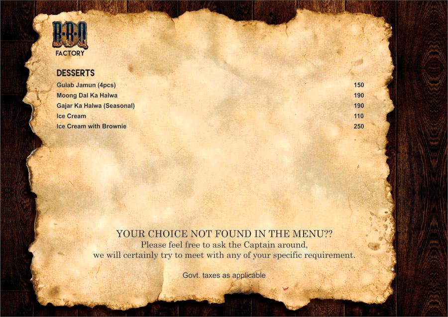 BBQ Factory menu 11
