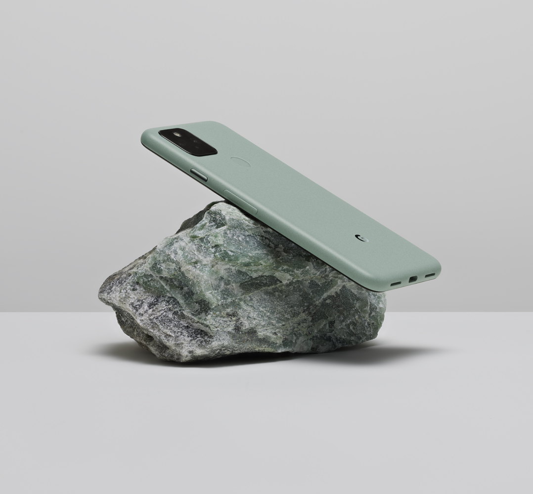 Image showing the Google Pixel 5 device that was made from our new 100% recycled alloy