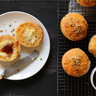 Cheese Scones with Chives & Sunflower Seeds.