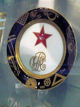 Photo: This piece of post-Revolution, Russian Constructivist china is edged with symbols denoting different kinds of labor. Beauty in the Workers' Paradise. http://en.wikipedia.org/wiki/Constructivism_(art)