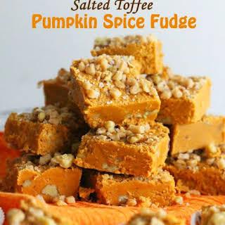Salted Toffee Pumpkin Spice Fudge.
