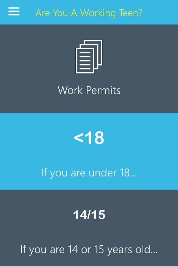 Are You A Working Teen?- screenshot