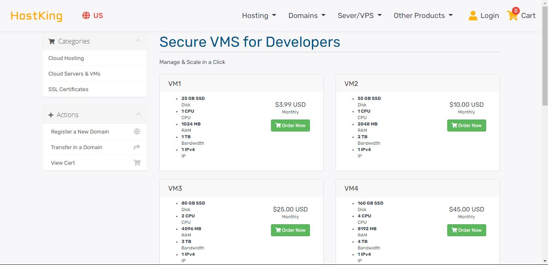 VPS providers:HostKing