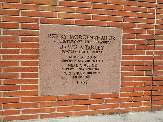 Ridgewood, NJ post office cornerstone