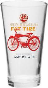 New Belgium Fat Tire Amber Ale Pint Glass