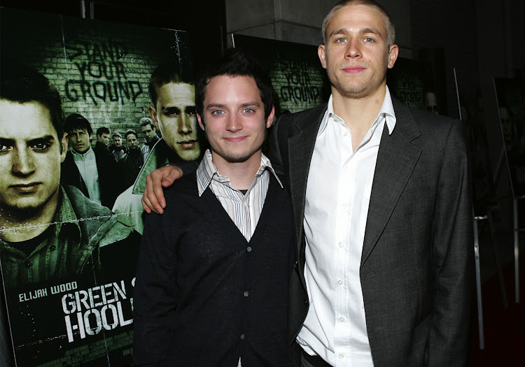Lead actors Elijah Wood and Charlie Hunnam attend premier of 'Green Street Hooligans'