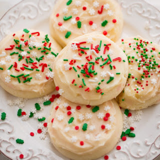 Soft Frosted Eggnog Cookies