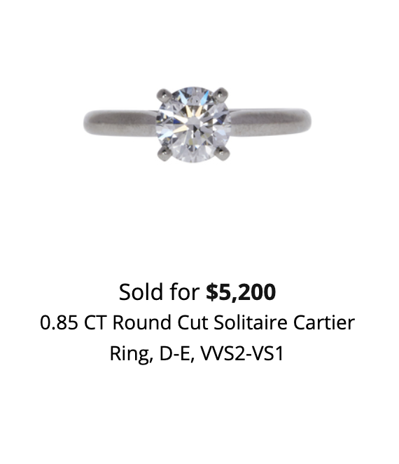 How much can I sell my Cartier ring for?