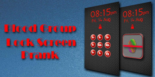 Blood Group Lock Screen Prank