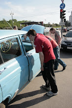 Photo: even unrestored, the car draws a lot of interest