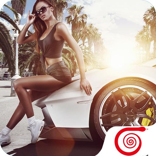 Sexy Car Girl Wallpaper HD-4K