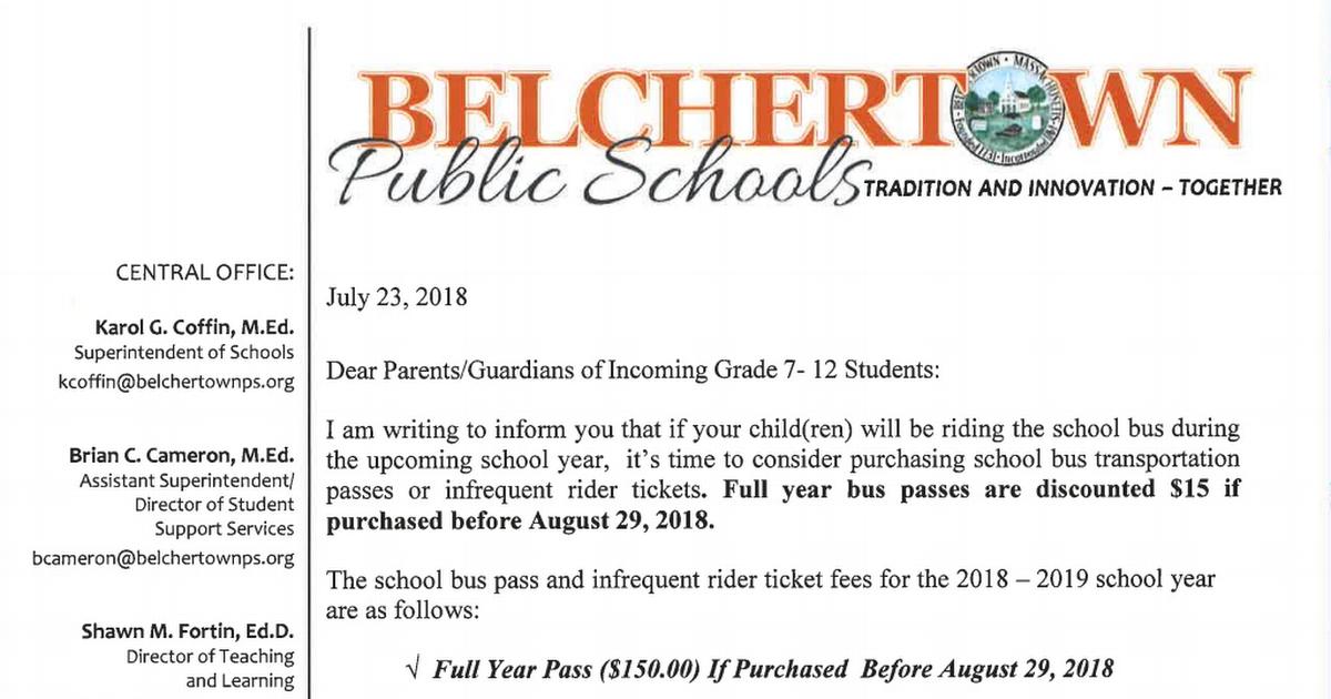 School Bus Transportation Pass Letter pdf - Google Drive