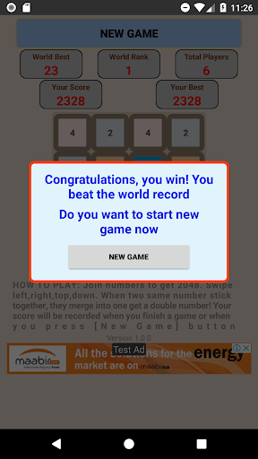 Game 2048 King screenshots 6