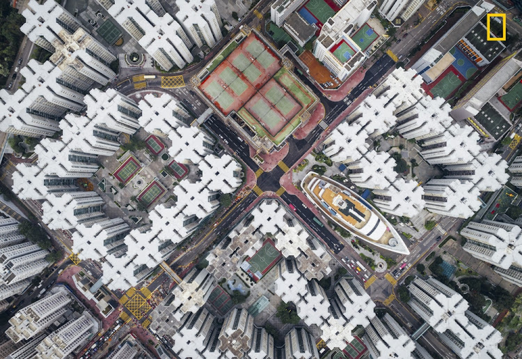 'Walled City #08' took 2nd Place in the Cities Category. This aerial view of Hong Kong's apartment buildings reminded the photographer of the Kowloon Walled City which, up until it was demolished in the 1990s, was the most densely populated place on earth.