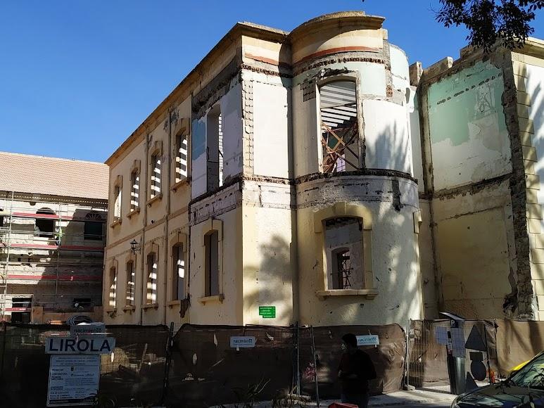 Pabellón en el que se ha previsto la instalación de los servicios complementarios del museo