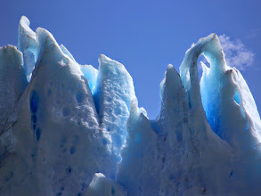 Photo: Zoomed in detail of the glacial wall