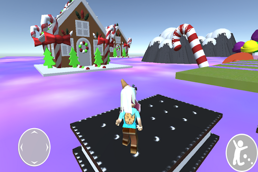 Obby cookie swirl Rblx's candy land android2mod screenshots 2
