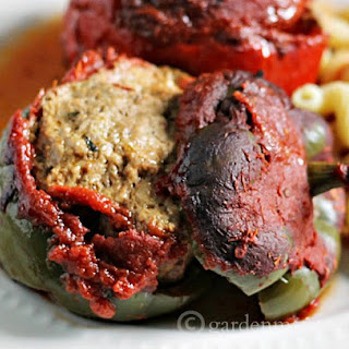 Italian Meatball Stuffed Pepper Crockpot