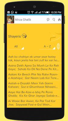 Mirza Ghalib Shayari SMS Ashar - screenshot