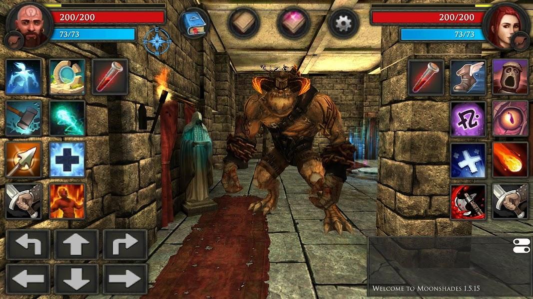 Moonshades: a dungeon crawler RPG game