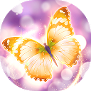 Shiny Gold Butterfly Live Wallpaper APK