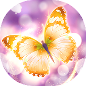 Shiny Gold Butterfly Live Wallpaper Icon