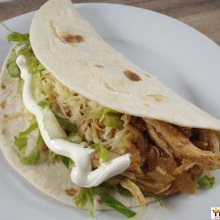Easy Chicken Soft Tacos.