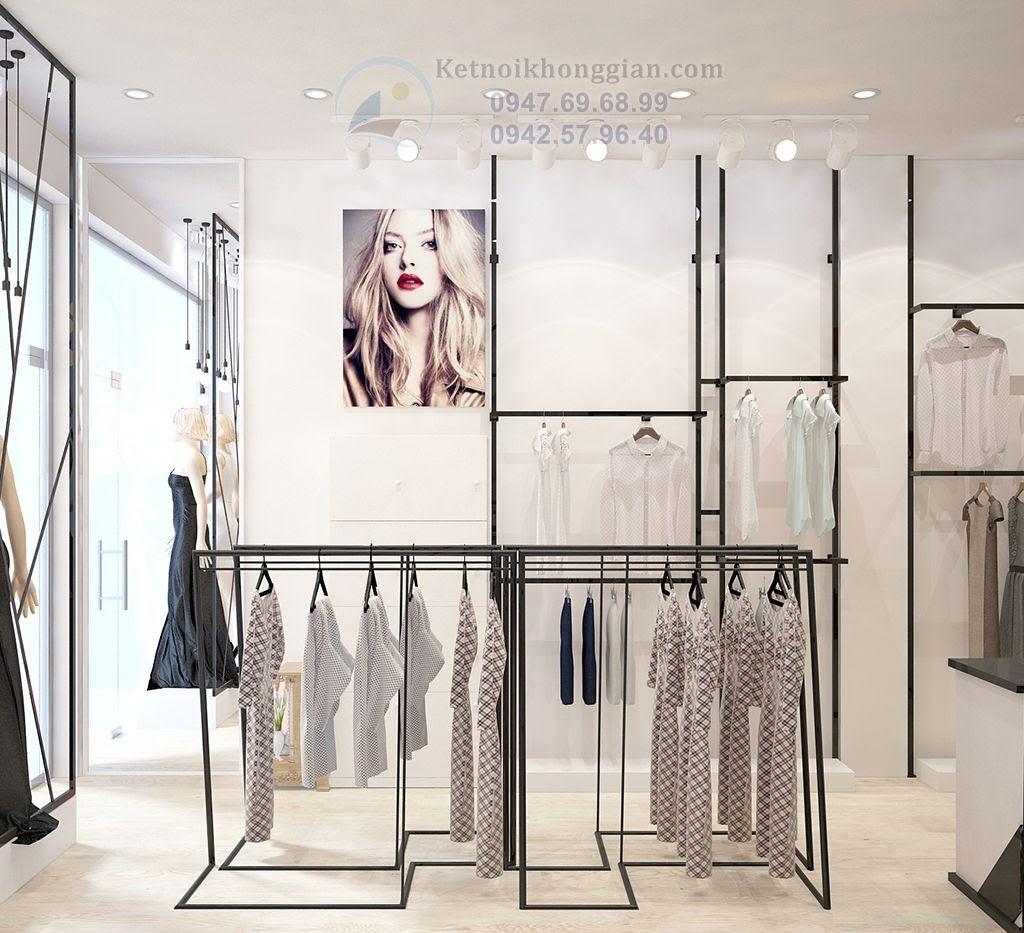 thiết kế shop thời trang công sở nhỏ nhưng hợp lý