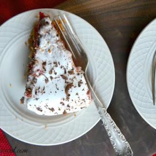 Red Velvet S'more Poke Cake.